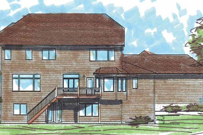 Craftsman Exterior - Rear Elevation Plan #320-1006 - Houseplans.com