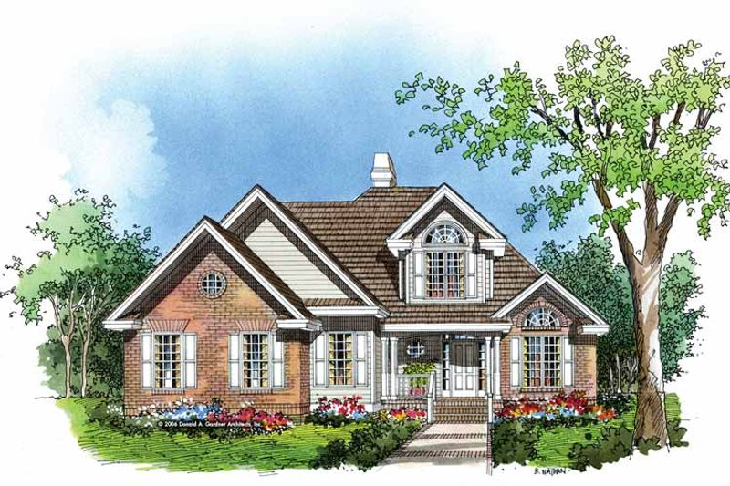 Traditional Exterior - Front Elevation Plan #929-251 - Houseplans.com
