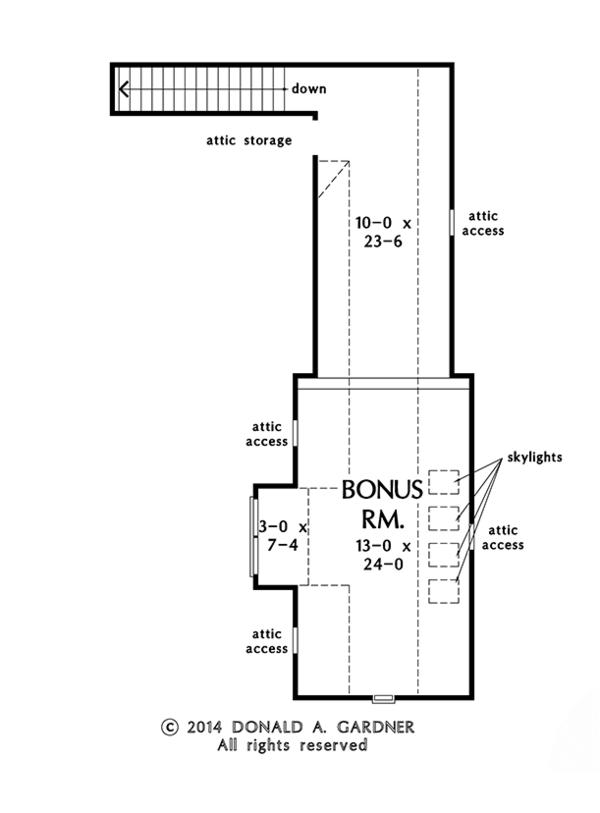 Craftsman Floor Plan - Other Floor Plan Plan #929-981