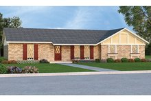 Architectural House Design - Ranch Exterior - Front Elevation Plan #45-555