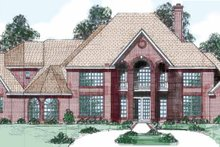 European Exterior - Front Elevation Plan #52-247