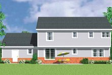 Country Exterior - Rear Elevation Plan #72-1108