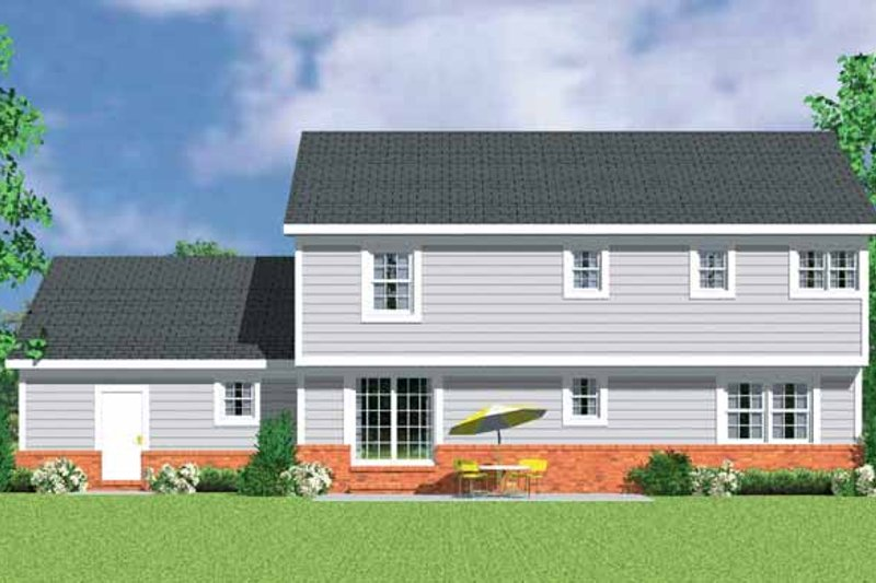 Country Exterior - Rear Elevation Plan #72-1108 - Houseplans.com