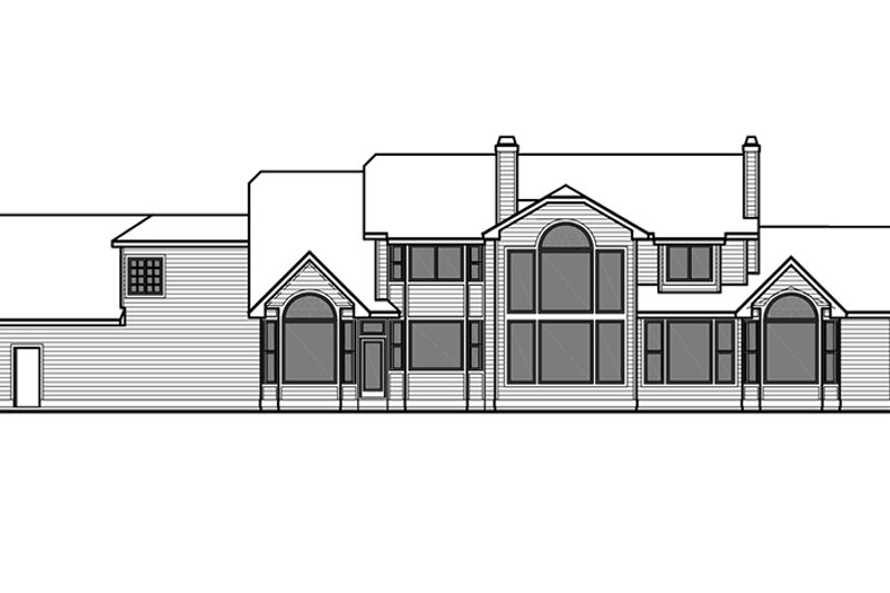 Country Exterior - Rear Elevation Plan #303-472 - Houseplans.com