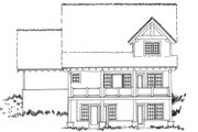 Cabin Style House Plan - 5 Beds 3.1 Baths 3060 Sq/Ft Plan #942-40 Exterior - Rear Elevation