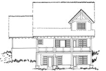 Home Plan - Cabin Exterior - Rear Elevation Plan #942-40