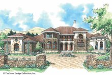 Architectural House Design - Mediterranean Exterior - Front Elevation Plan #930-305