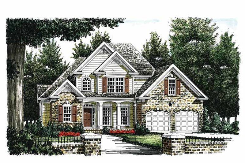 Traditional Exterior - Front Elevation Plan #927-245 - Houseplans.com