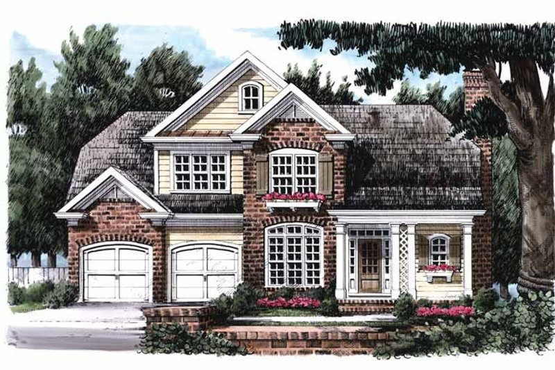 Colonial Exterior - Front Elevation Plan #927-816