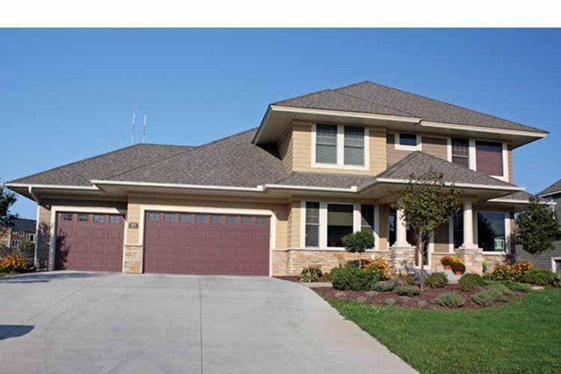 Prairie Exterior - Front Elevation Plan #51-1077 - Houseplans.com