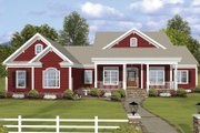 Ranch Style House Plan - 3 Beds 3.5 Baths 2294 Sq/Ft Plan #56-696 Exterior - Front Elevation
