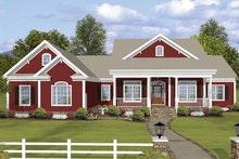 Architectural House Design - Ranch Exterior - Front Elevation Plan #56-696
