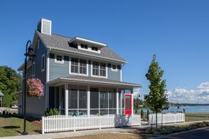 Beach Exterior - Front Elevation Plan #901-121