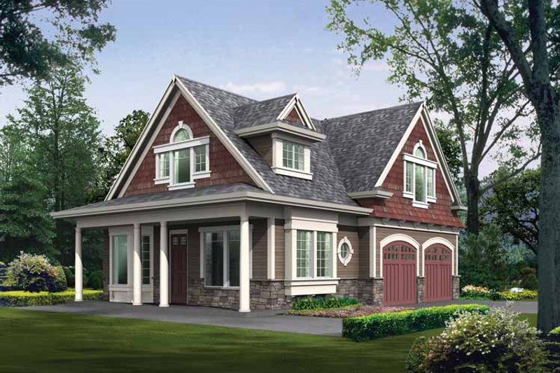 Craftsman Exterior - Front Elevation Plan #132-281 - Houseplans.com