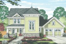 Architectural House Design - Traditional Exterior - Front Elevation Plan #46-846