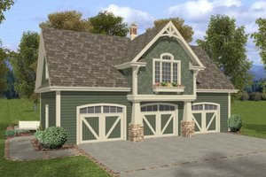 Craftsman Exterior - Front Elevation Plan #56-553