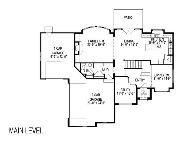European Floor Plan - Main Floor Plan Plan #920-115