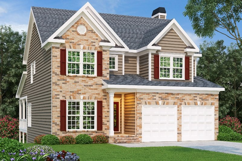 Dream House Plan - Traditional Exterior - Front Elevation Plan #419-150