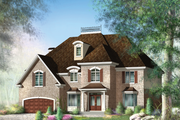 European Style House Plan - 5 Beds 2 Baths 4520 Sq/Ft Plan #25-4715 Exterior - Front Elevation
