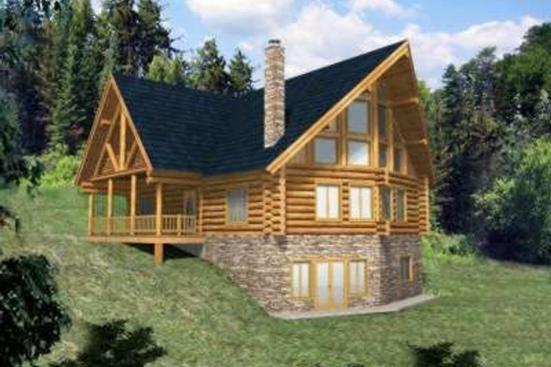 Traditional Exterior - Front Elevation Plan #117-311 - Houseplans.com