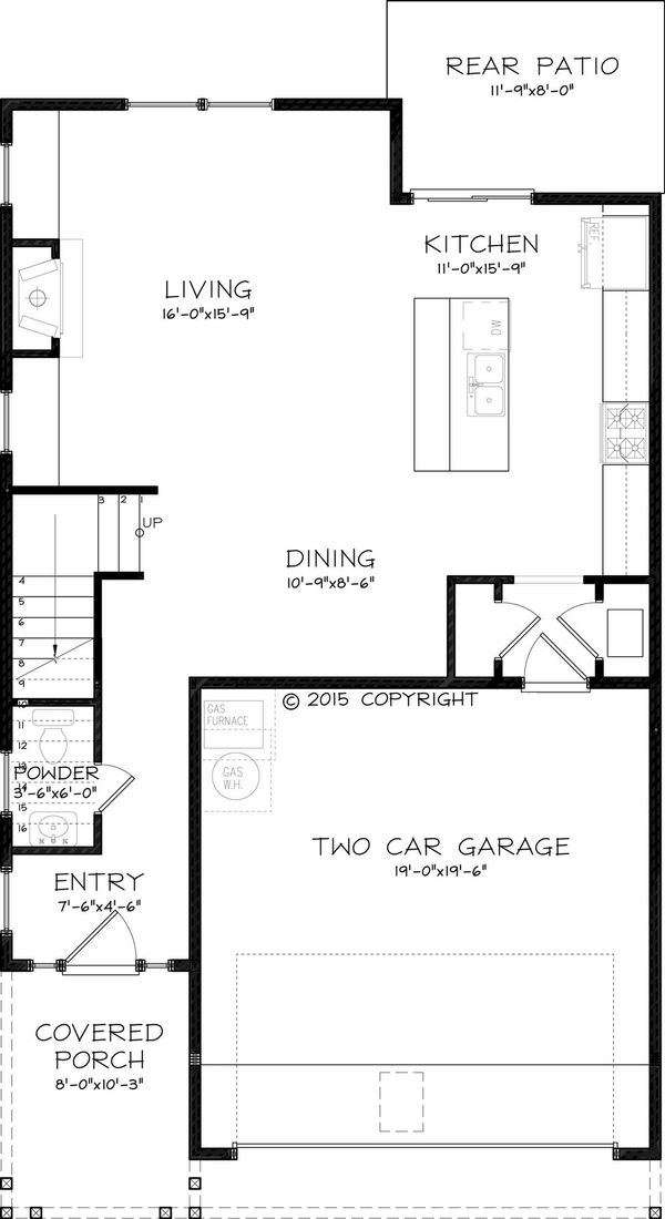 Craftsman Floor Plan - Main Floor Plan Plan #895-48