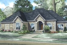 House Plan Design - European Exterior - Other Elevation Plan #17-587