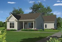 House Plan Design - Country Exterior - Front Elevation Plan #57-651