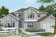 Traditional Style House Plan - 3 Beds 3 Baths 1872 Sq/Ft Plan #100-201 Exterior - Front Elevation