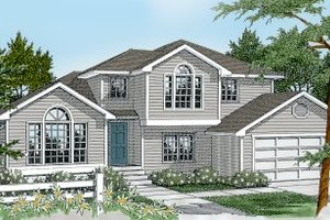 Dream House Plan - Traditional Exterior - Front Elevation Plan #100-201
