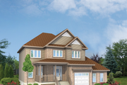 Traditional Style House Plan - 4 Beds 3 Baths 2676 Sq/Ft Plan #25-4403 Exterior - Front Elevation