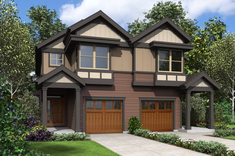Craftsman Exterior - Front Elevation Plan #48-1017