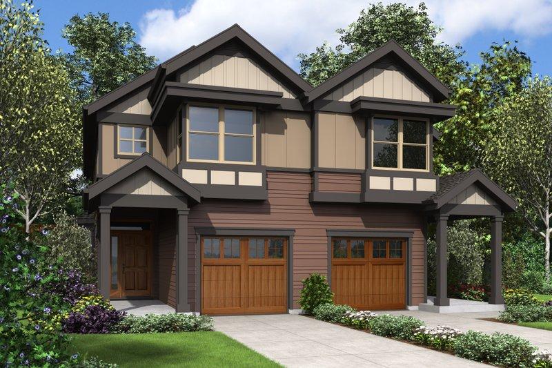 Architectural House Design - Craftsman Exterior - Front Elevation Plan #48-1017