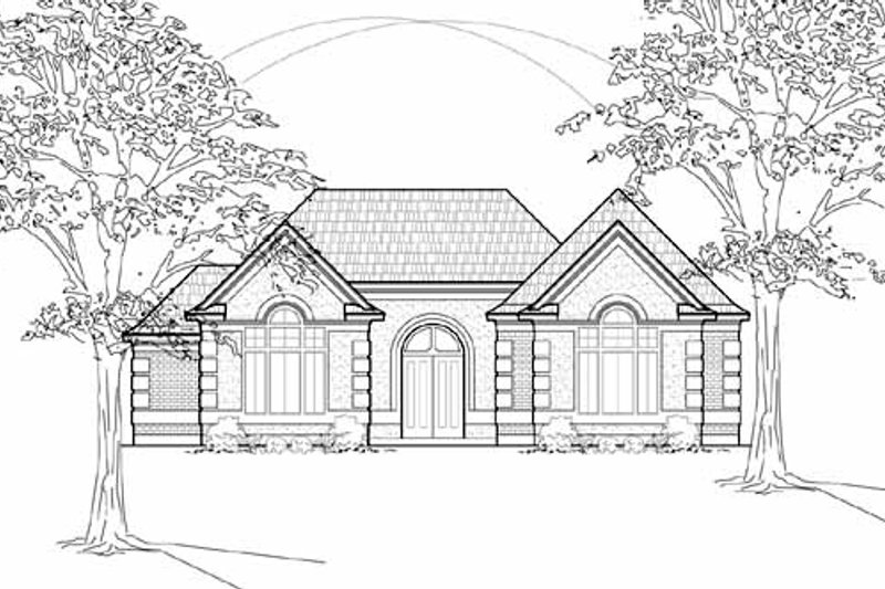 European Exterior - Front Elevation Plan #61-232 - Houseplans.com