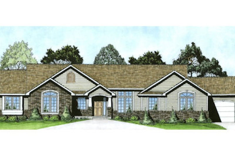 Traditional Exterior - Front Elevation Plan #58-182 - Houseplans.com