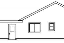 Exterior - Rear Elevation Plan #124-458