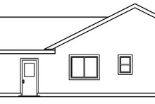 Exterior - Rear Elevation Plan #124-458