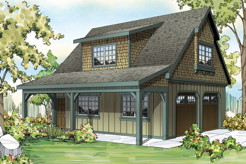 Craftsman Style House Plan - 0 Beds 0 Baths 1374 Sq/Ft Plan #124-891 Exterior - Front Elevation