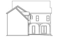 Architectural House Design - Traditional Exterior - Rear Elevation Plan #419-234