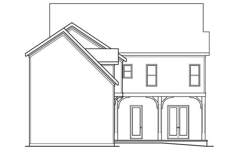 Traditional Exterior - Rear Elevation Plan #419-234 - Houseplans.com