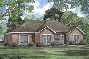 European Style House Plan - 4 Beds 2 Baths 1854 Sq/Ft Plan #17-1033 Exterior - Front Elevation