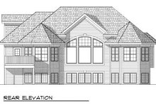 Dream House Plan - Traditional Exterior - Rear Elevation Plan #70-800