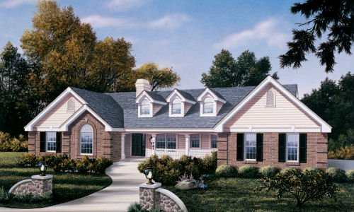 Traditional Exterior - Front Elevation Plan #57-190 - Houseplans.com