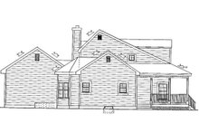 Colonial Exterior - Covered Porch Plan #3-257