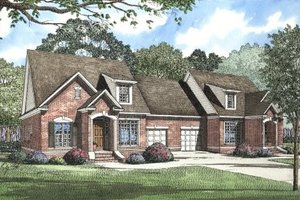 European Exterior - Front Elevation Plan #17-2009