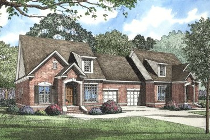 European Style House Plan - 3 Beds 2.5 Baths 3366 Sq/Ft Plan #17-2009 Exterior - Front Elevation