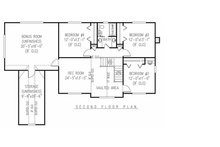 Farmhouse Floor Plan - Upper Floor Plan Plan #11-124