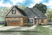 Traditional Style House Plan - 3 Beds 2 Baths 1591 Sq/Ft Plan #17-2454 Exterior - Front Elevation