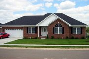 European Style House Plan - 3 Beds 2 Baths 1600 Sq/Ft Plan #412-106 Exterior - Front Elevation