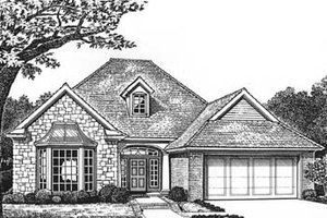 Exterior - Front Elevation Plan #310-571