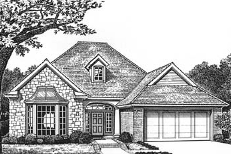 House Plan - 3 Beds 2 Baths 1596 Sq/Ft Plan #310-571 Exterior - Front Elevation